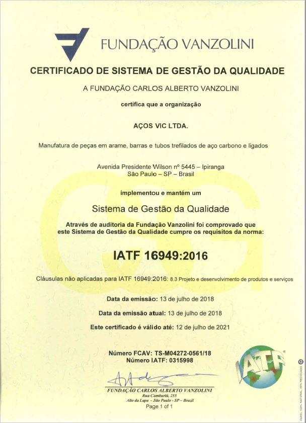 IATF Certificado